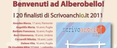 I 20 finalisti di Scrivoanchio.it 2011